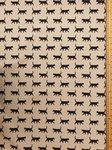 Black cats Fabric UK 80% Cotton 20% Poly material upholstered feel - Price Per Metre